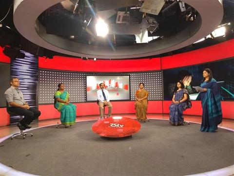 English Journalism students participated in Rajya Sabha TV special show called The Pulse